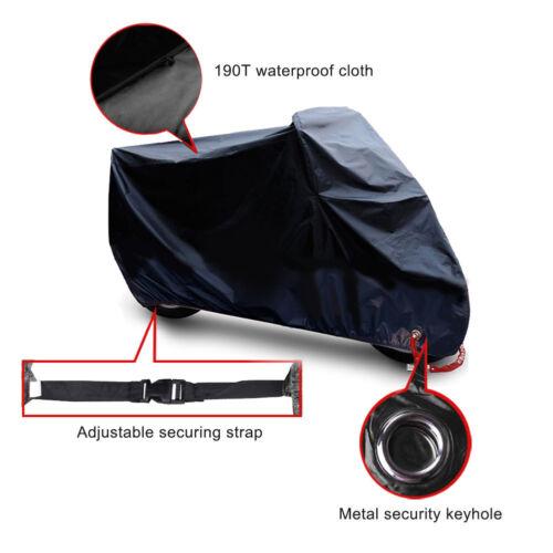 Motorcycle Helmet Cover Black Bike Waterproof Outdoor Rain Dust UV Protector XXL