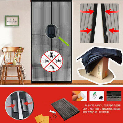 Magic Mesh Insect Fly Bug Nsect Mosquito Door Curtain Net Screen Magnets EA