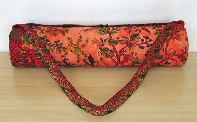 Indian Multi Mandala Tie Dye Yoga Mat Carry Bag With Shoulder Strap Carrier Bags