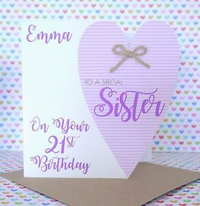 Personalised Handmade Birthday Card 50th 60th 70th 80th Friend