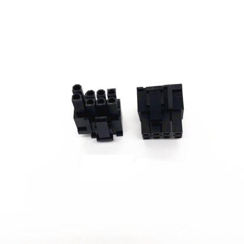 50pcs Molex 8pin 6+2pin Male Power Connector Plastic Shell