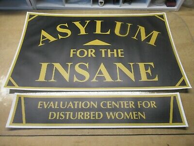 """EVALUATION CENTER FOR DISTURBED WOMEN  18/"""" X 4/""""  DORM  SIGN FRATERNITY SORORITY"""