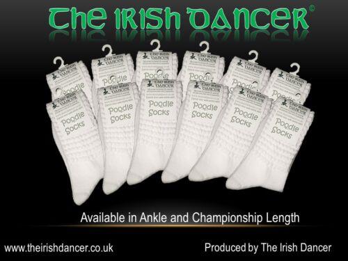 Irish DANCE BARBONCINO Calze Champ Lunghezza 12 Pack-Bianco Ottico