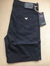 """Armani Jeans Shorts AJ BNWT New Navy Blue 34"""" Waist Regular Fit"""