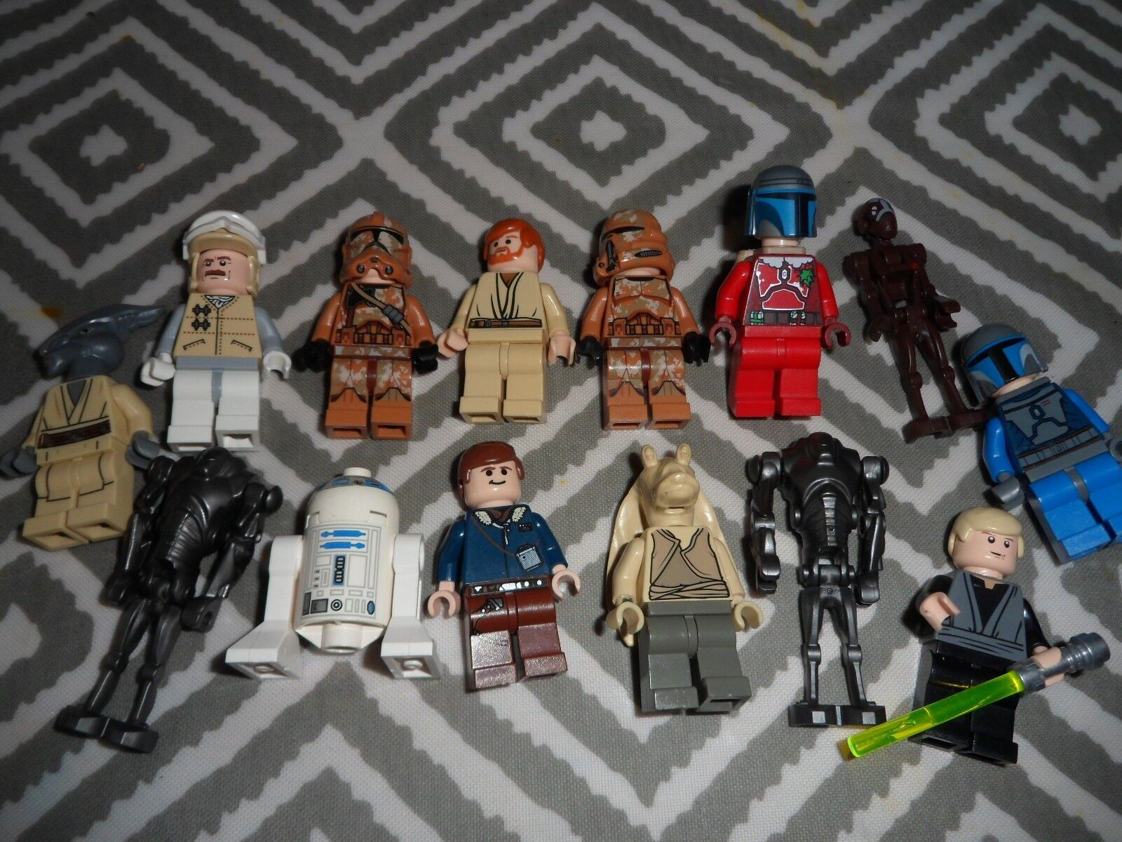 LEGO MINI FIGURES X 14 STAR WARS FIGURES LOT  - VERY GOOD CONDITION
