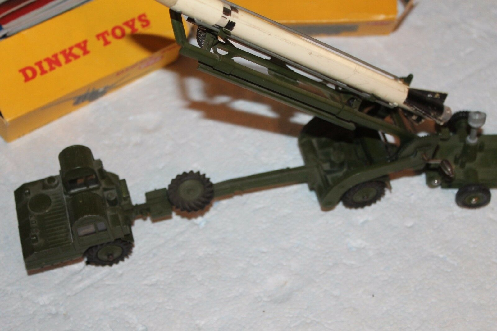 MILITARY DINKY MISILLE ERECTOR AND PLATFORM VEHICLE
