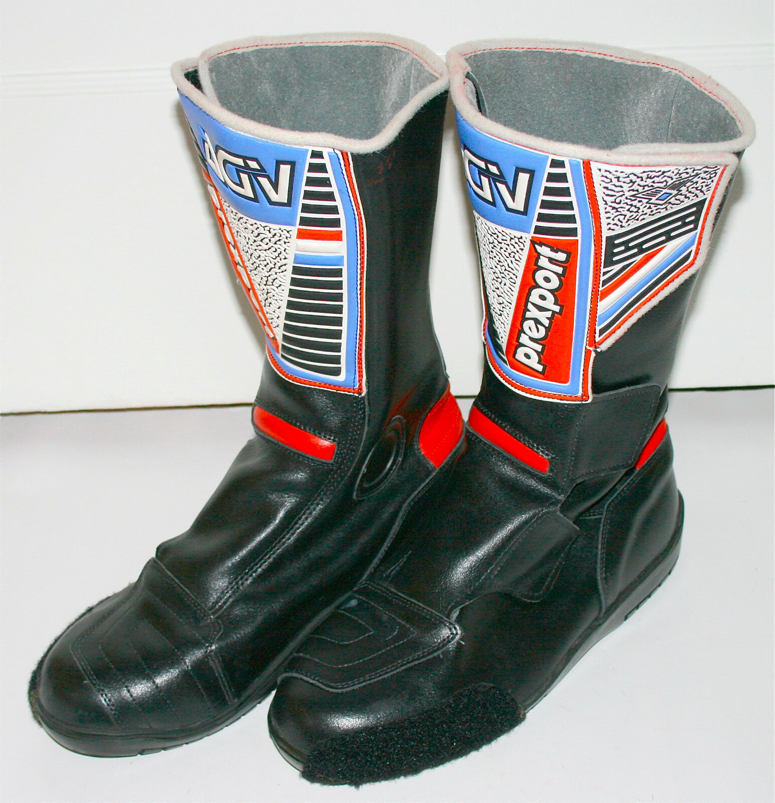 AGV PREXPORT Motorcycle Black Boots  Size 8.5  9  Made in