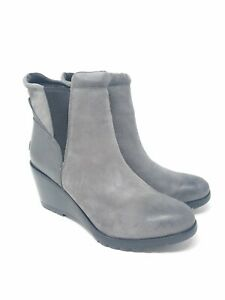 Hours gray suede wedge Chelsea boots   eBay