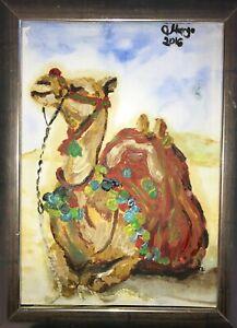 Kamel-Camel-Malerei-Margarita-Bonke-zeichnung-Pop-art-A4-Original-Kunst