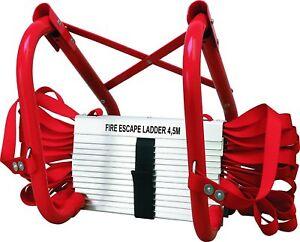 Escalier-Incendie-Urgence-de-Hogar-4-5-M-Pliante-Supporte-Jusqu-039-a-450-KG