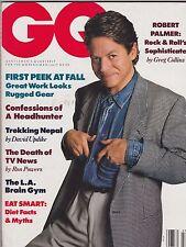 JULY 1988 (UNREAD - NO LABEL ) GQ mens fashion magazine - ROBERT PALMER