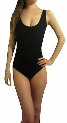 Damen Body Schwarz Rosa Leotard Top Dance S M L