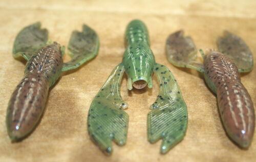 "4/"" Swimming Craw Pumpkinseed Watermelon Plastics 50 count bag worm Jig Trailer"
