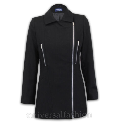 Ladies Wool Mix Coat Womens Jacket Trench Long Outerwear Fashion Lined Winter