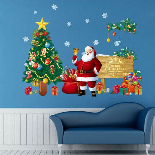 Weihnachten Wandtattoo Merry Christmas Schnee Winter Tannenbaum Wandsticker