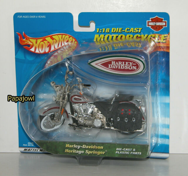 Used Harley Davidson Wheels >> Harley Davidson Heritage Springer 1 18 Scale Hot Wheels Motorcycle 2000