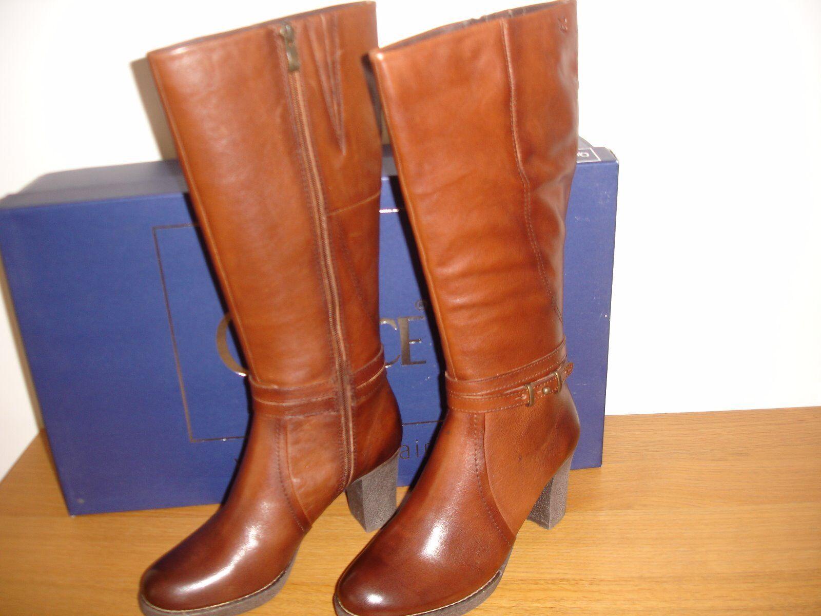 Caprice Botas 9-25501-21 caminar en el aire marrón & Zip