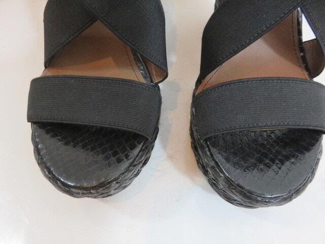 Donald J. Pliner Womens Black Strappy Beaded Detail Detail Detail Wedge size 8 7d4cf1