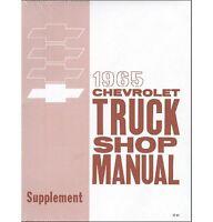 1965 Chevy Truck Shop Manual Supplement