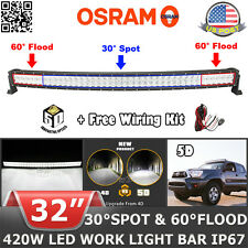"""5D 32""""inch 420W Curved LED Light Bar Offroad Fit For Dodge Ram 1500 2500 30"""" 22"""""""