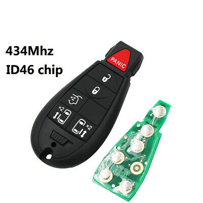 2Pcs New Keyless Smart Remote 3 Buttons Key Fob Shell Case for Chrysler Dodge Town /& Country Grand Caravan Charger Ram 1500 2500 3500 No Chip Transmitter FOB
