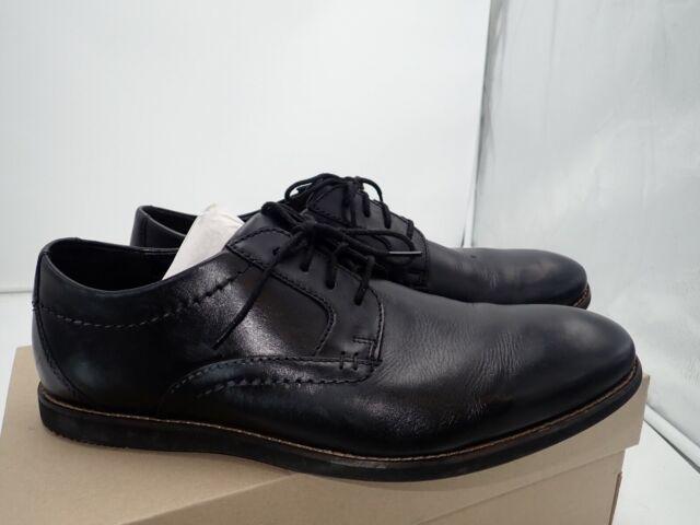 Raharto Plain Oxford Black Leather
