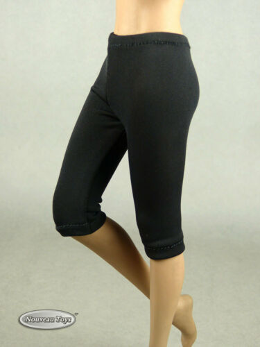 Hot Toys Female Black Exercise Yoga Tights // Pants 1//6 Phicen NT TB League