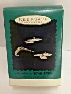 Hallmark-Star-Trek-Chrismas-Ornament-Ships-Of-Star-Trek-Set-Of-3-Ornaments-H6