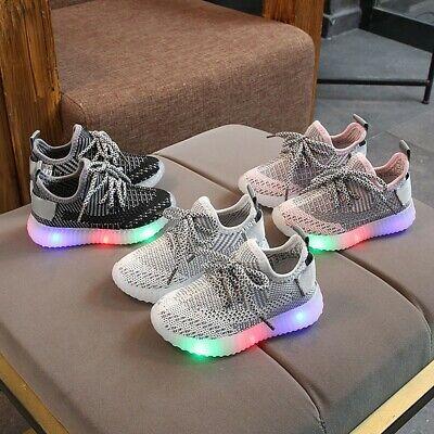Baby Boys Girls Kids LED Light Baby Shoes Toddler Running Sneakers Lovely