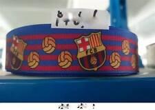 1 METRE BARCELONA FC FOOTBALL RIBBON SIZE 1 INCH HEADBANDS BOWS CARD MAKING