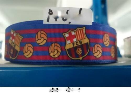 bandeaux cheveux arcs Fabrication Carte 1 mètre FC Barcelone football Ruban Taille 1 in environ 2.54 cm