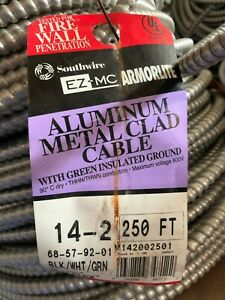Stranded Copper Metal Clad Aluminum Southwire Armorlite Cable 12//3 x 250 ft