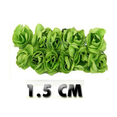 144Pcs Small Flowers Mini Roses Head Wedding Home Party Decoration O