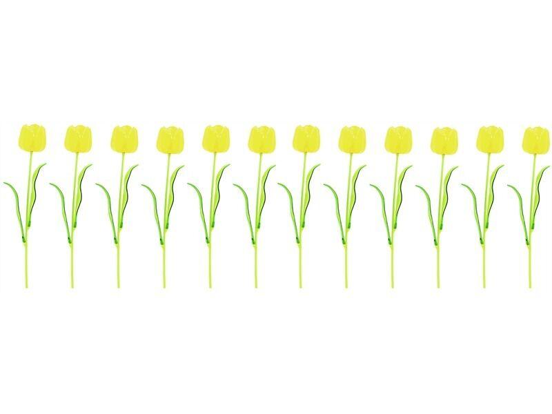12x Europalms Special Kristalltulpe, gelb, 61cm, Kunstpflanze