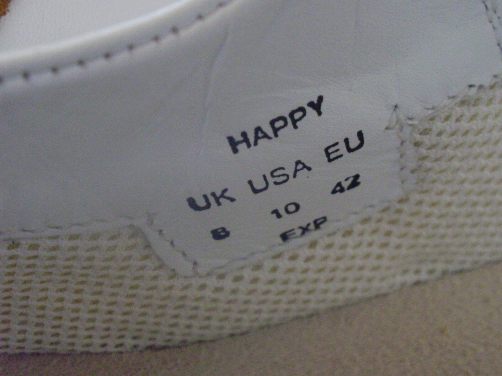 NEW HOTTER 'HAPPY' WHITE LEATHER SHOES EUR PUMPS FLATS UK 8 EUR SHOES 42 US 10 c663c7