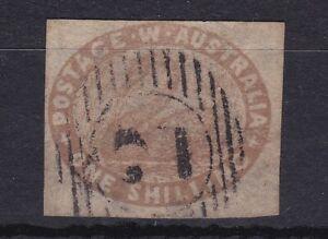 WA149-Western-Australia-1855-1-Pale-Brown-Swan-SG-6a-VARIETY