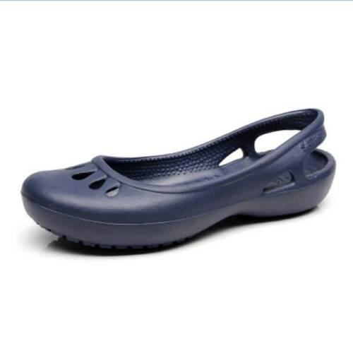 Womens Non-slip Casual Flat Sandal Summer Hollow Slingback Breathabl Shoes