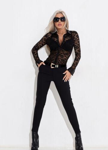 Tunika Alina Spitze Damentop Schwarz Spitzenbluse Bluse By Longshirt m Xs Pulli qtdSwpBB