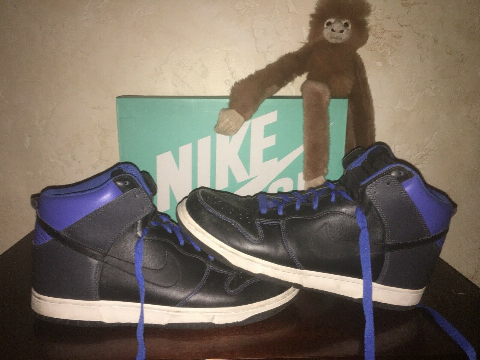 Mens Sz 13 Nike Dunk VARSITY ROYAL ANTHRACITE Black bluee shoes 317982 003