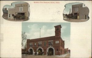 Boise-ID-Fire-Station-Multi-View-c1910-Postcard