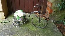 Acabado metálico de carbón bicicleta Plantador De Jardín Al Aire Libre Bicicleta de titular de la flor