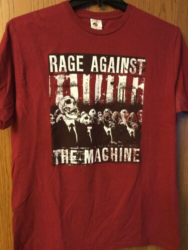 Rage Against The Machine.   Maroon Shirt.  XL.