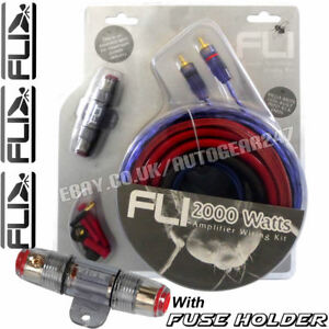 fli ak4 4 gauge 2000w car complete amplifier amp wiring kit with rh ebay co uk