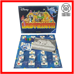 Labyrinth-Disney-Edition-Ravensburger-Board-Game-7-Family-Fun-Moving-Maze-2004