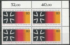Federal-Frg-Minr-1266-Mint-Block-of-Four-Corner-2-Unfolded