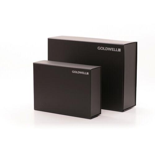 schwarz mit Magnetverschluss Aufbewahrunsgsbox mit Goldwell-Aufdruck groß