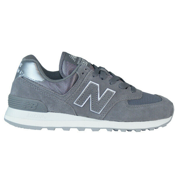 New Balance Wl 574 Mms Sateen Tab Lifestyle Sneaker shoes Ladies Grey 2019 New