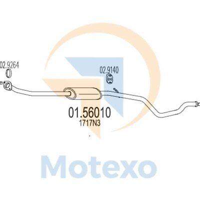 Amichevole Mts 01.56010 Scarico Peugeot 306 1.6i 100bhp 01/01 - 12/02-