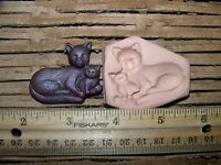 Push Mold Polymer Clay Cat Kitten Kitty Mother Baby Make Jewelry, Scrapbooking