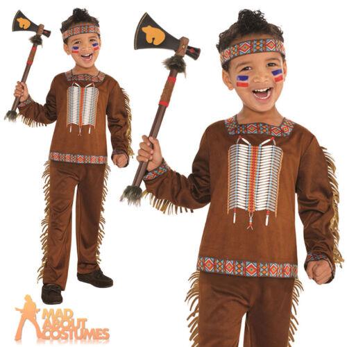 Child Native American Costume Boys Indian Fancy Dress Book Week Day Girls Kids